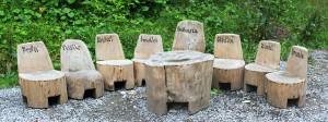 Dřevěné originály v okolí Lesního baru