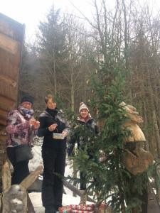 Každoroční zdobení Vánočního stromečku vždy 24.12 dopoledne