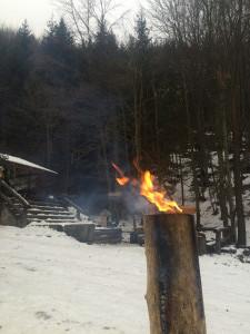 bengálský oheň na zahřátí