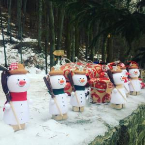Sněhuláčci u dárečků