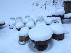 Trpaslíci pod sněhem