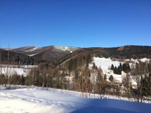 Zimní pohled na Lví horu